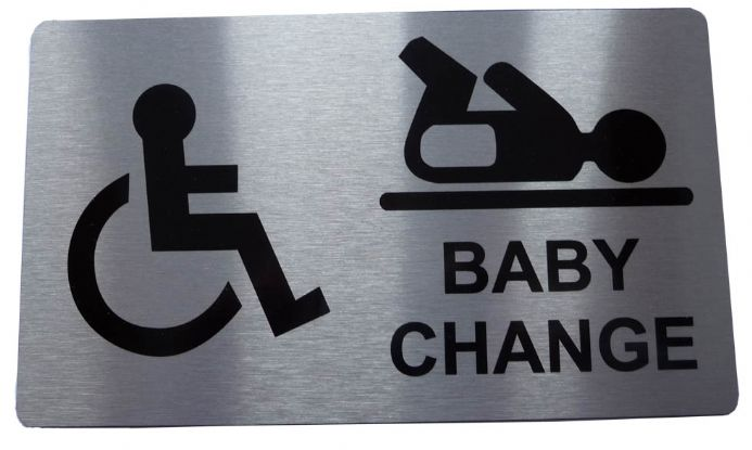 DISABLED AND BABY CHANGE Metal door sign